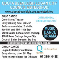 Quota Beenleigh Logan City Council Eisteddfod QLD
