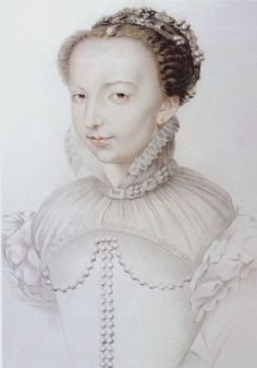 Image 1 – Catherine de Medici, aged 21, a reproduction of a lost drawing, attributed to either Jean Clouet or Francois Clouet, c. 1540