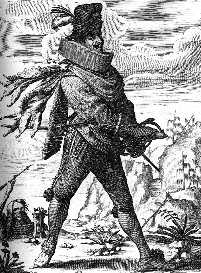 Image 4 - An engraving of 'Il Capitano' by Abraham Bosse, 17th Century