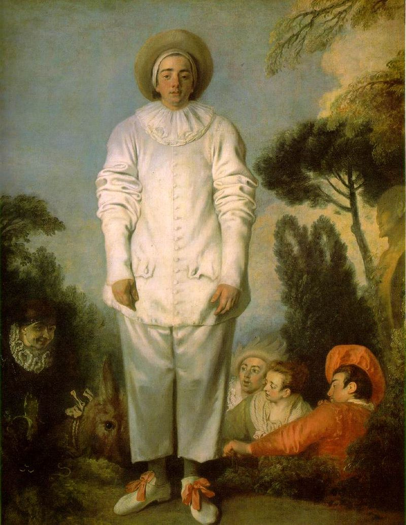 Image 6 - 'Gilles as Pierrot' by Antoine Watteau, c. 1717-19. Louvre Museum, Paris, France