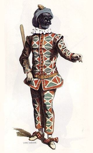 Image 7 - Illustration of 'Arlecchino' by Maurice Sand, c. 1860