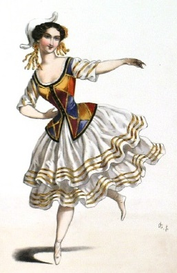 Image 9 - Madame Caroline as 'Columbine', c. 1843.adj
