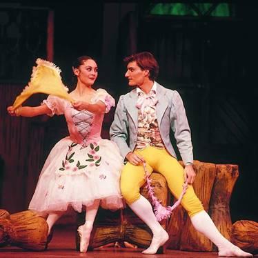 "La Fille Mal Gardée"" Australian Ballet Fiona Tonkin as Lise and David McAllister as Colas"