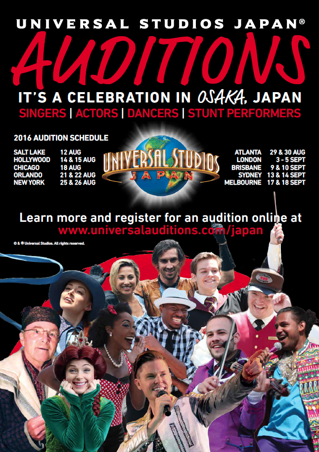 Universal Studios Japan 2016 Auditions! - Sydney