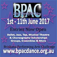 BPAC Brisbane Performing Arts Challenge Dance